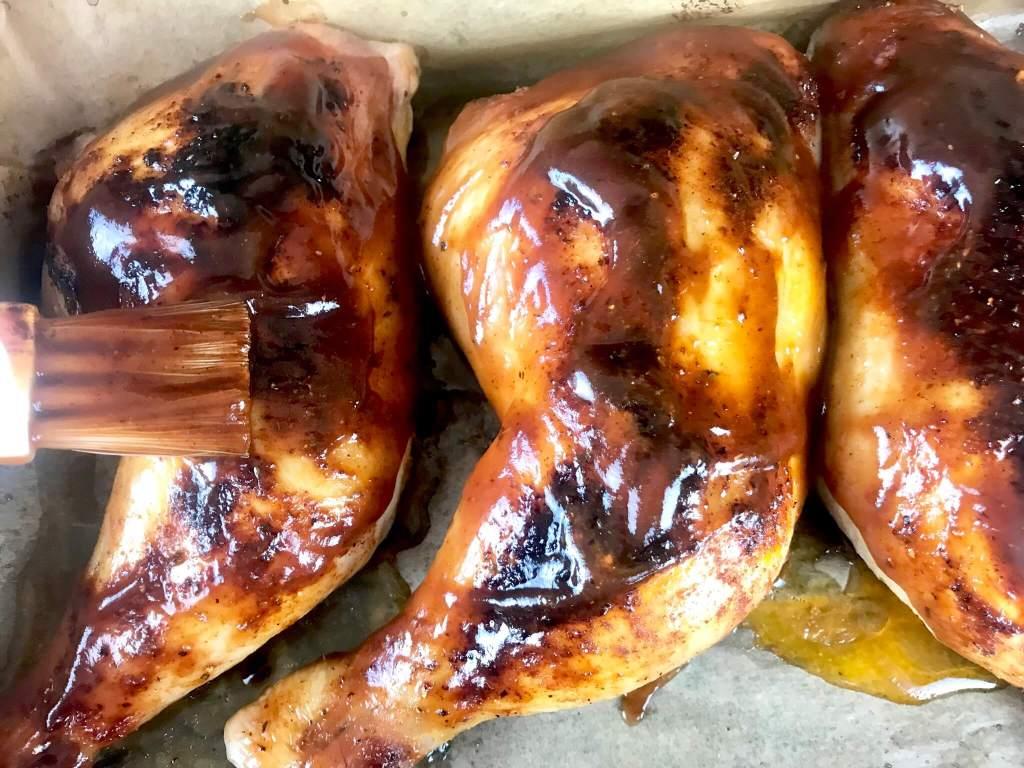 BBQ Hähnchenschenkel Zubereitung