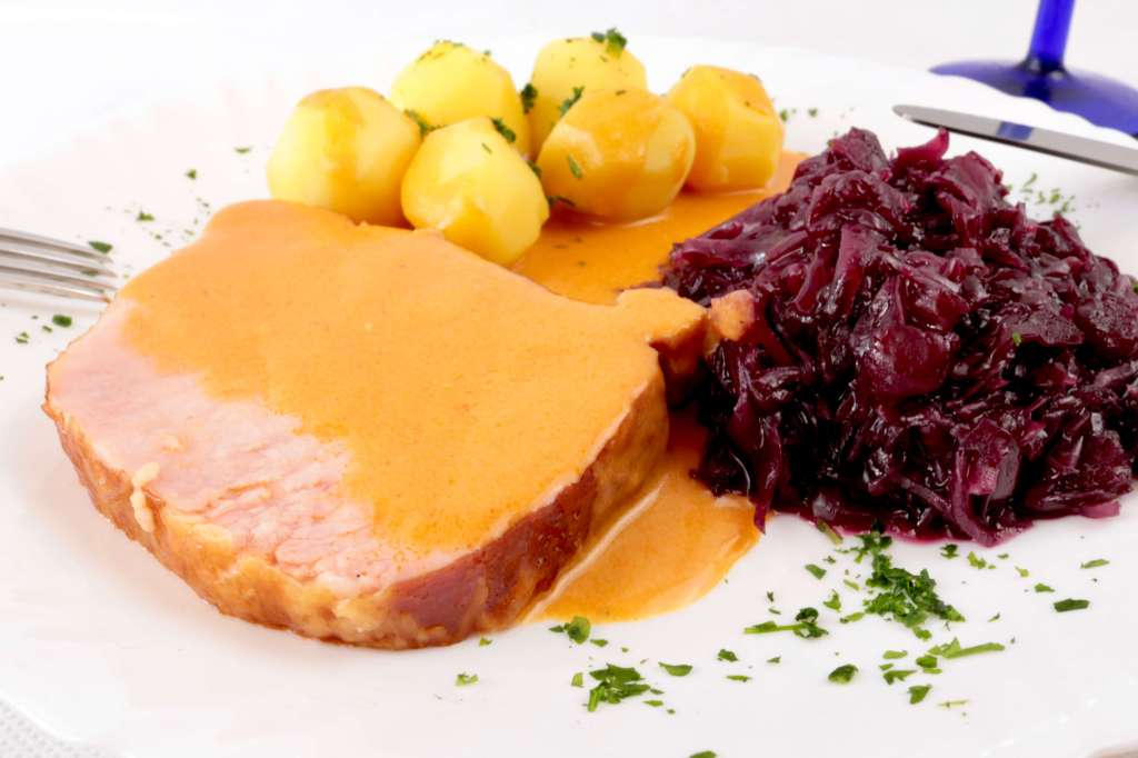 Serviervorschlag Klassisches Kassler Lachsbraten Rezept