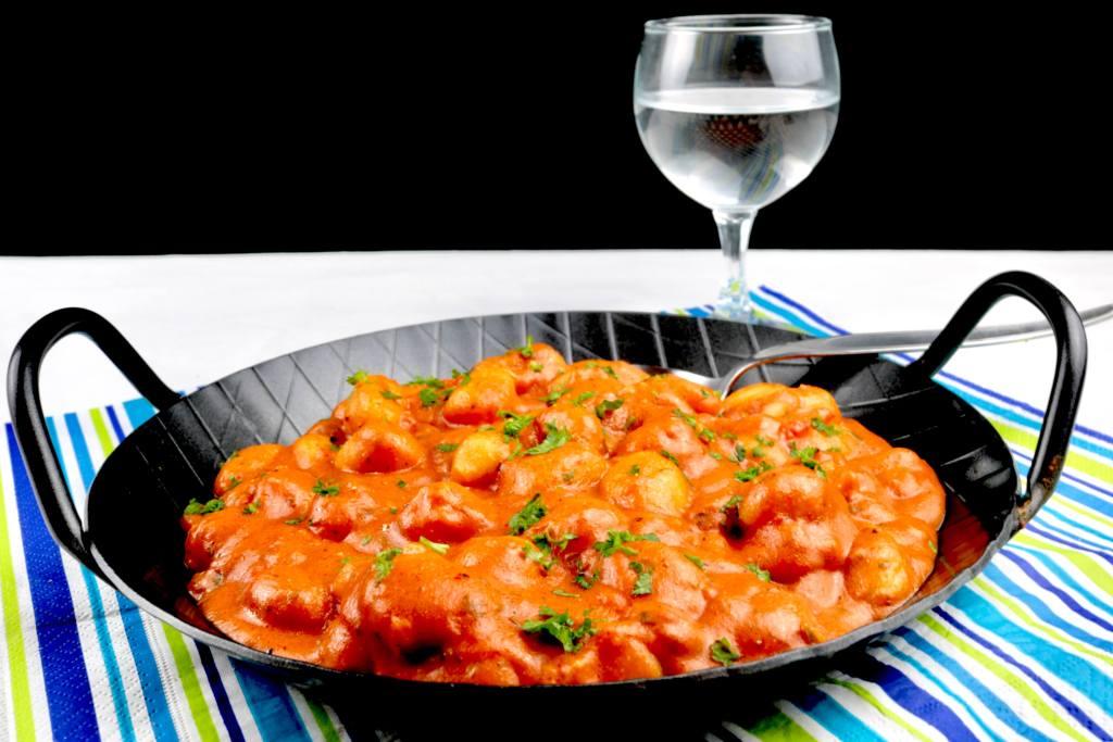 Serviervorschlag Gnocchi in einer Tomaten Frischkäse Kräuter Sauce