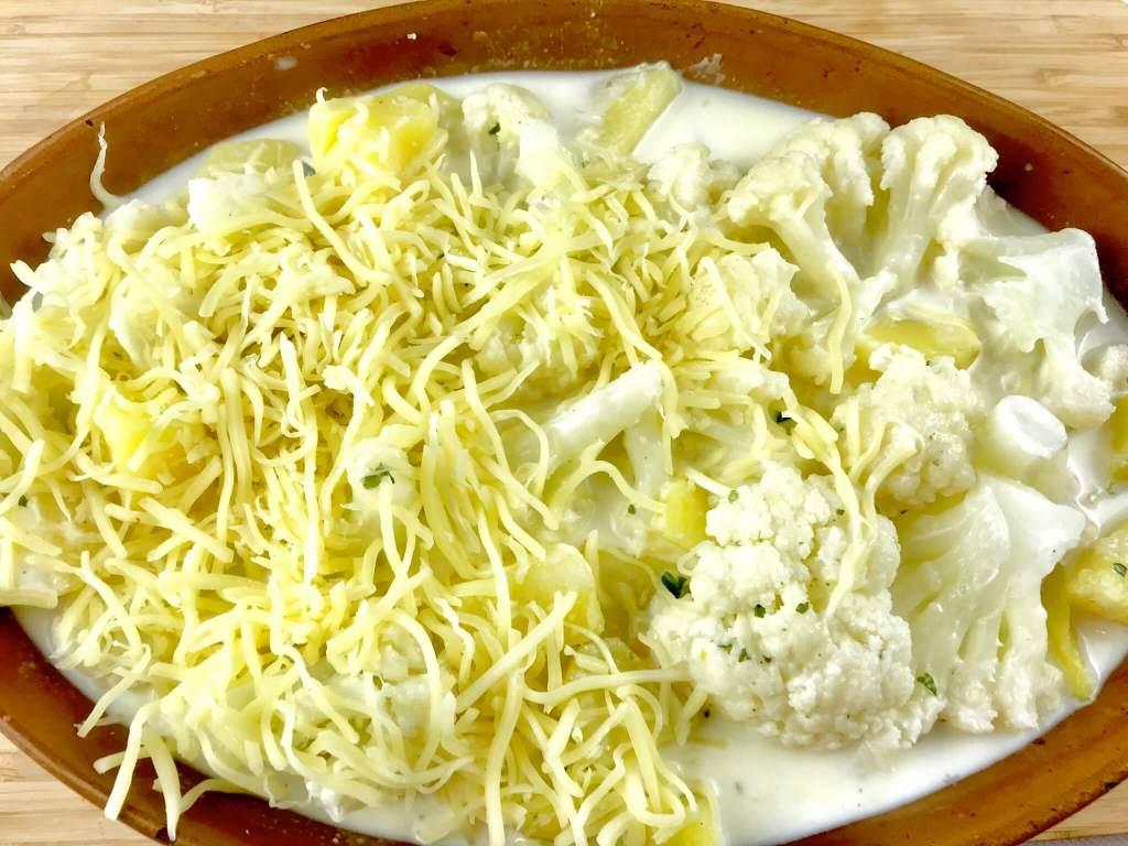 Zubereitung Kartoffel Blumenkohl Auflauf