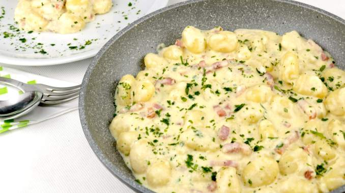 Bacon Parmesan Gnocchi Pfanne