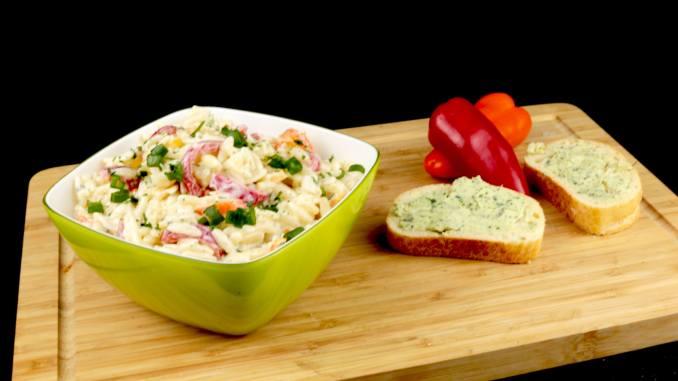 Kritharaki Paprika Salat