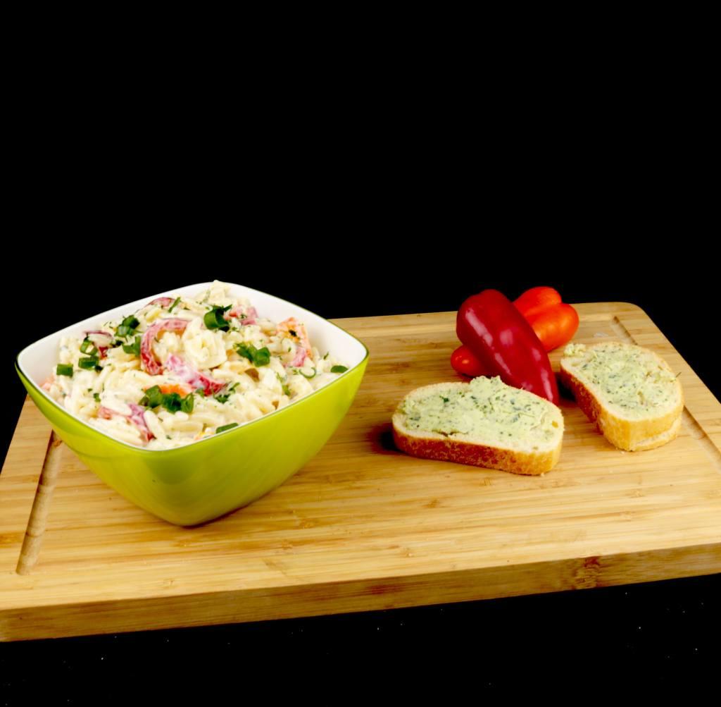 Zubereitung Kritharaki Paprika Salat