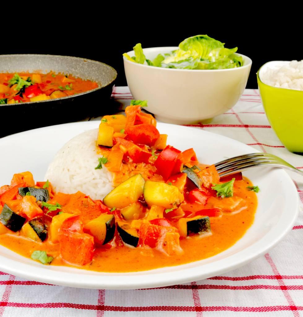 Zubereitung Paprika Zucchini Pfanne