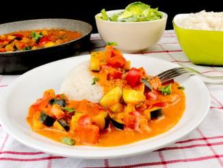 Paprika Zucchini Pfanne