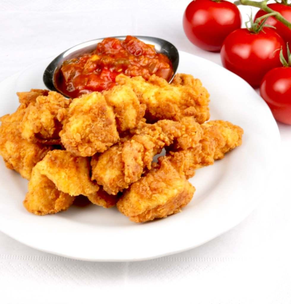 Fried Chicken Party Snack Serviervorschlag
