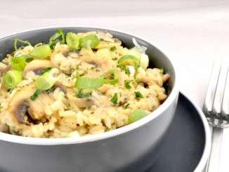 Champignon Frischkäse Reispfanne