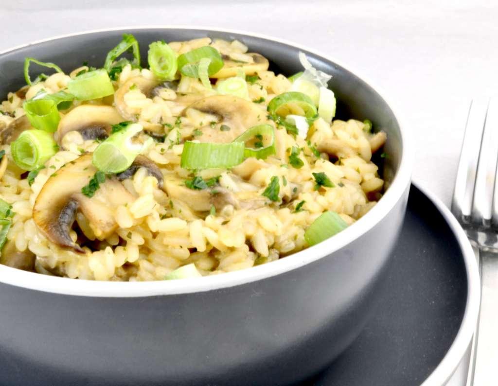 Schnelle Reispfanne mit Champignons