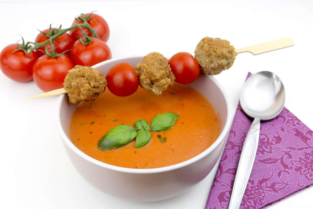 Tomaten Ziegenkäse Suppe