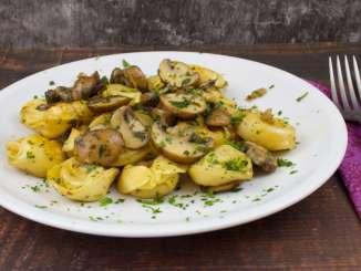 Tortellini Pfanne mit Champignons
