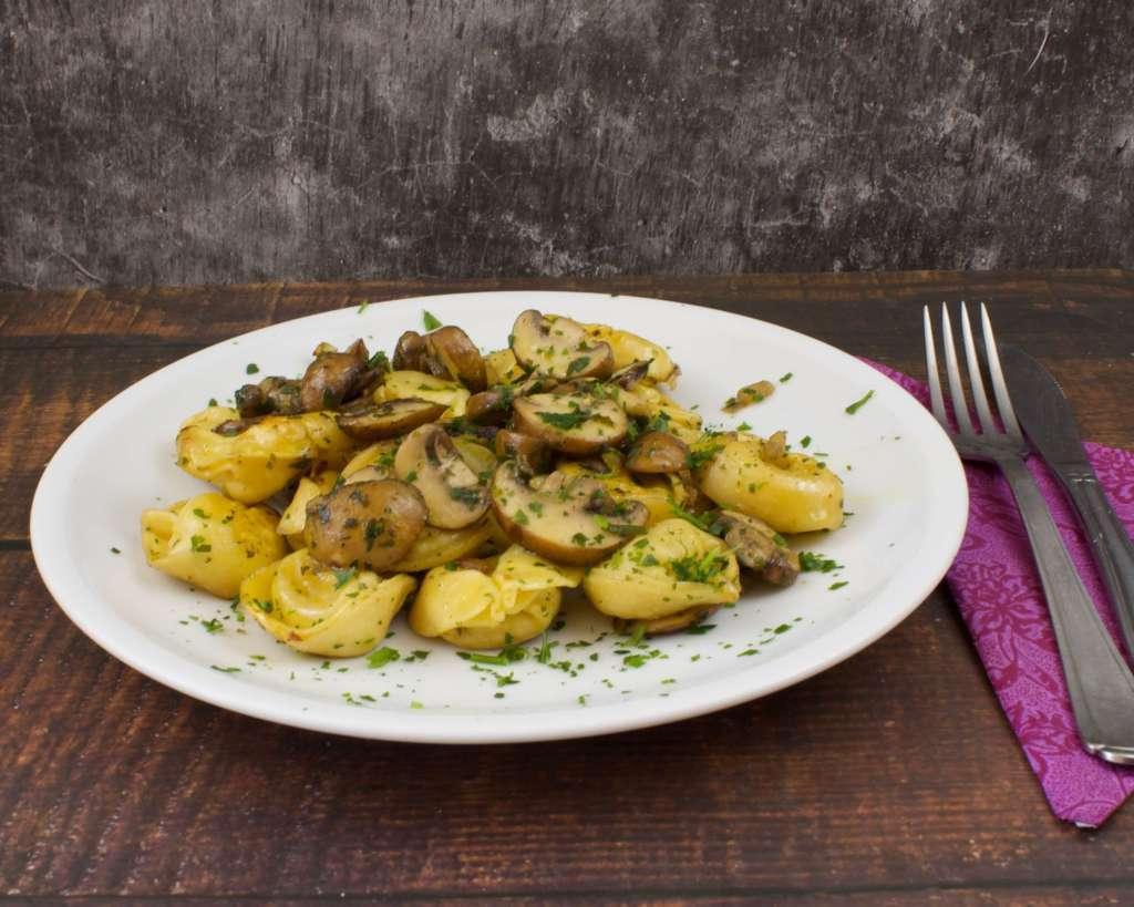 Schnelles Pasta Gericht mit Pilzen