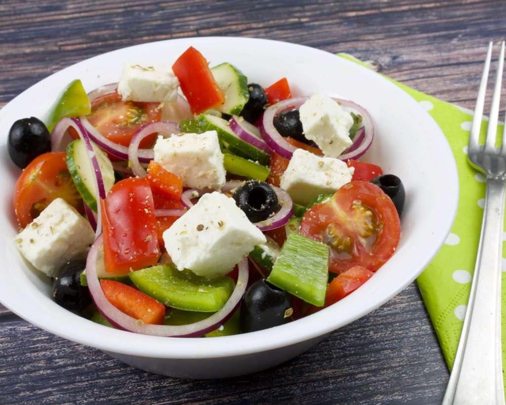 Zubereitung Griechischer Bauernsalat