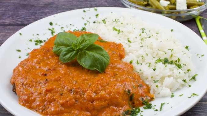 Ajvar Parmesan Schnitzel