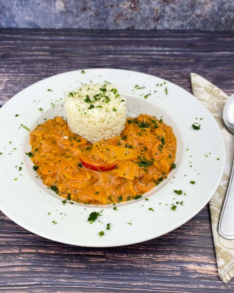 Serviervorschlag Chinakohl in Tomatensauce