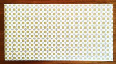 楽天市場で購入した牛革クロコダイル型財布のラッピング(包装紙)写真画像