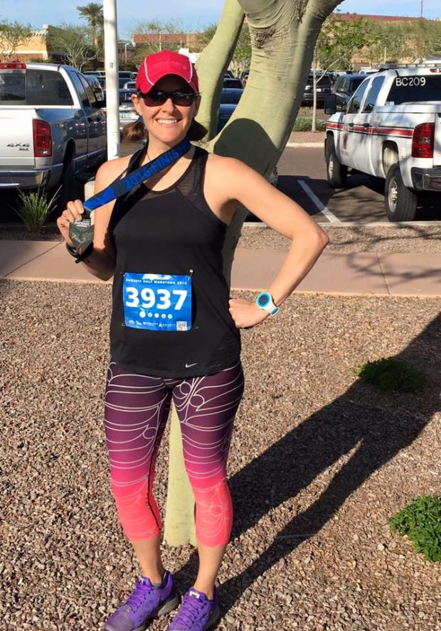 After completing the 2016 Phoenix Half Marathon
