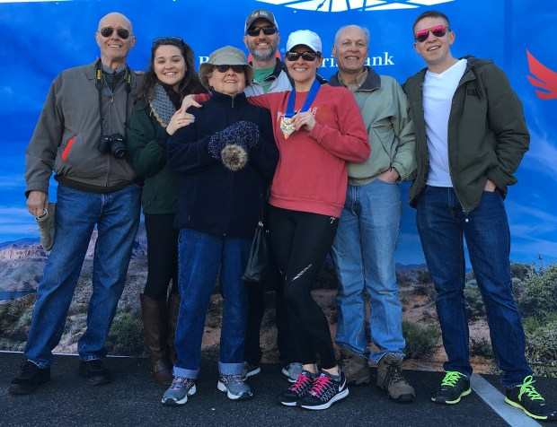 Mesa-Phx Half Marathon race support family