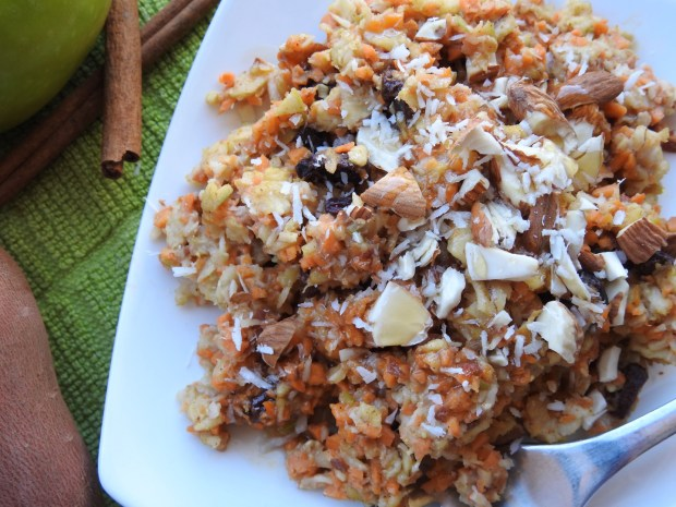 sweet potato apple oatmeal bake