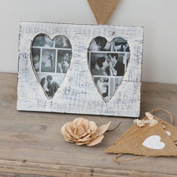 Retreat - Vintage Heart Double Frame 6x4