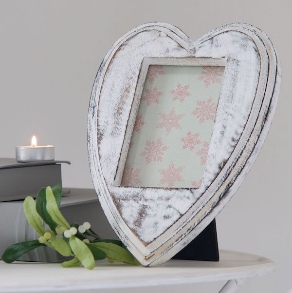 White Heart Shape Frame