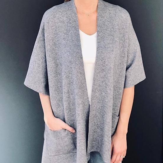 Cardigan Coat - Grey