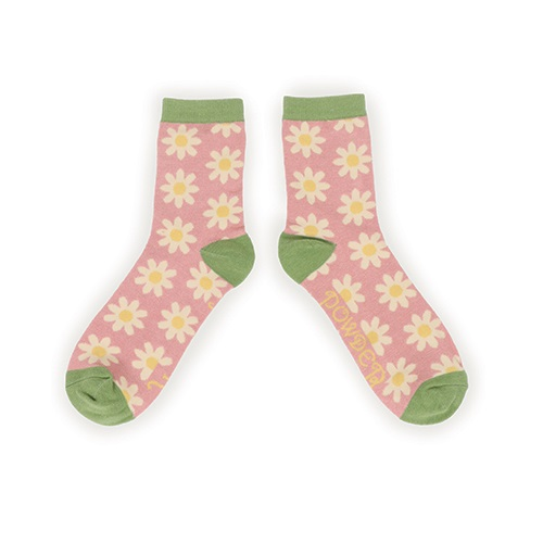 Powder Daisy Ankle Socks