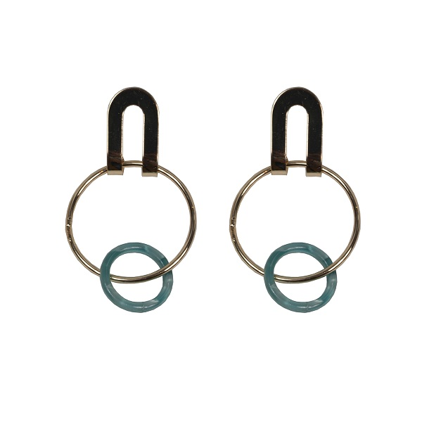 Resin hoop earnings green