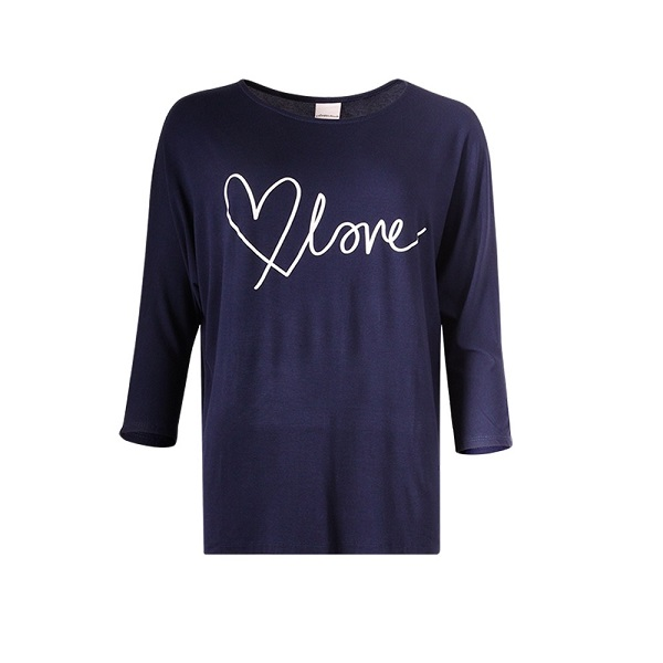 Love batwing -top navy