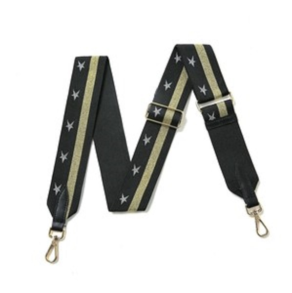 Star Bag Strap - Gold Black