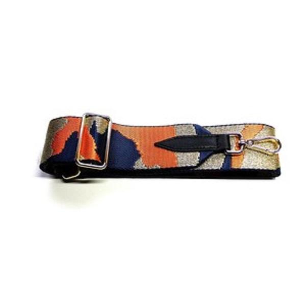 Camouflage Bag Strap - Orange Navy