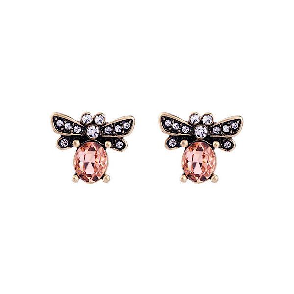 Bee Peach Earrings