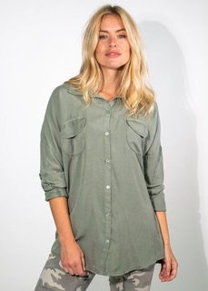 Oversized Soft pocket shirt Khaki