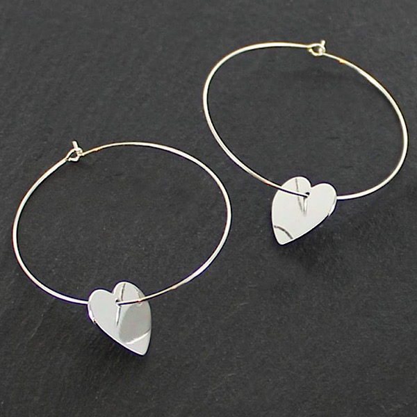 Large Heart Hoop Earrings