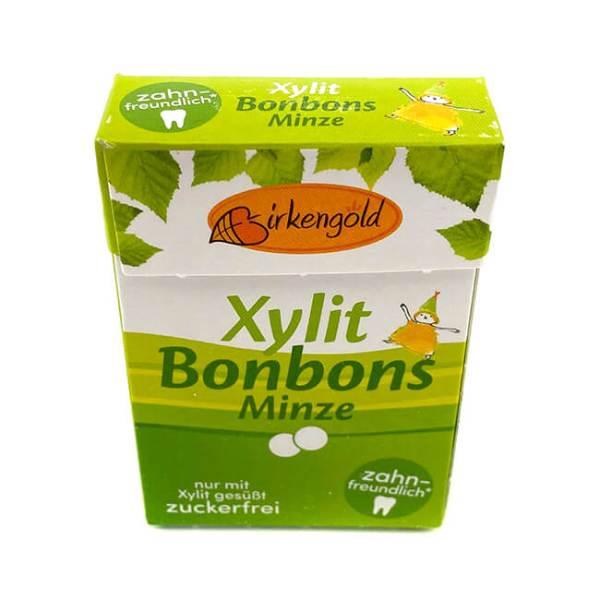Birkengold Xylit Bonbons Minze ca. 28 Stück Bonbons kaufen