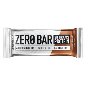 Biotech USA Zero Bar Double Chocolate Proteinriegel 50 g. Ohne Zucker, glutenfrei, Whey Isolat. Zero Bar Biotech kaufen. Eiweißriegel mit 45% Eiweiß (20 g).