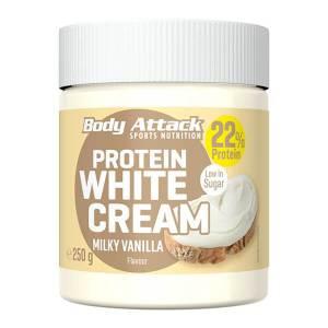 Body Attack Protein Schoko-Aufstrich White Choc 250 g kaufen. Low Carb Creme / Aufstrich von Body Attack, 250g. (22,1g Eiweiß / 100g). Protein Schoko Creme.