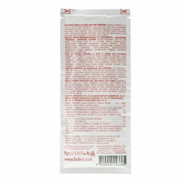 """Bolero Instant Erfrischungsgetränkepulver 9 g Beutel Rote Früchte """"Acerola"""" (Ahornkirsche) für 1,5 l fertiges Getränk. Bolero Getränk, Bolero Instant, Bolero Drinks, Bolero Getränkepulver, Bolero Drink, Bolero Pulver, Bolero Instant Getränkepulver"""