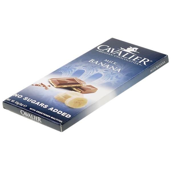 """Cavalier Schokolade """"Milch Banane"""" 85 g. Zuckerfreie Schokolade, Low Carb Schokolade kaufen."""