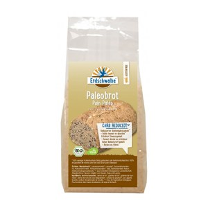 Erdschwalbe Paleobrot-Backmischung bio 300 g Beutel, Low Carb Brot kaufen, Low Carb Brot bestellen. Low Carb Brot Online Shop.