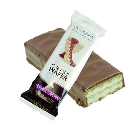 La Nouba Schokowaffel Crisp Wafer 30 g. Ohne Zucker, Low Carb Waffel kaufen. Low Carb Riegel. Kohlenhydrate armer Riegel (Waffel) für zwischendurch!