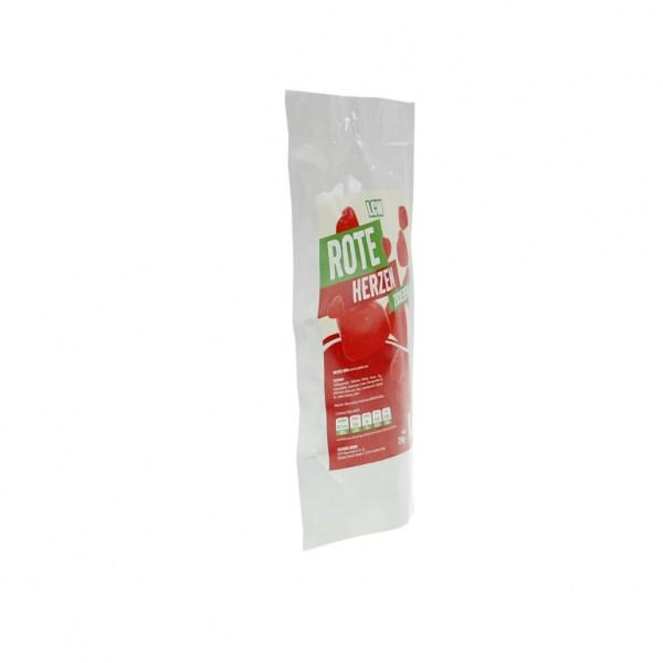 LCW Rote Herzen 250 g, Low Carb Herzen, Low Carb Herzen kaufen, Gummiherzen ohne Zucker kaufen.