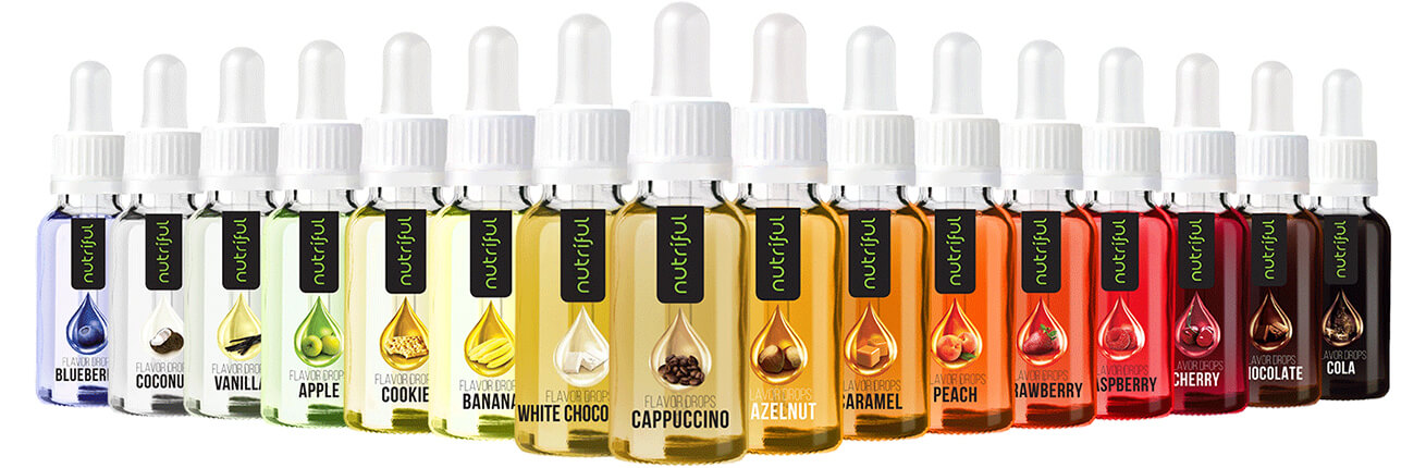 Flavour Drops kaufen. Nutriful Flavour Drops 30 ml. Flavour Drops große Auswahl & günstiger Preis! Kalorienfrei, zuckerfrei, ohne Kohlenhydrate im Shop!