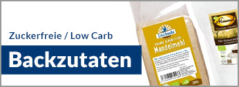 LCHF, Low Carb High Fat, Low Carb Backzutaten. Zuckerfreie Backzutaten. Backzutaten ohne Zucker kaufen. LCHF Backzutaten, Low Carb Backzutaten kaufen. Lowcarb Backzutaten kaufen.