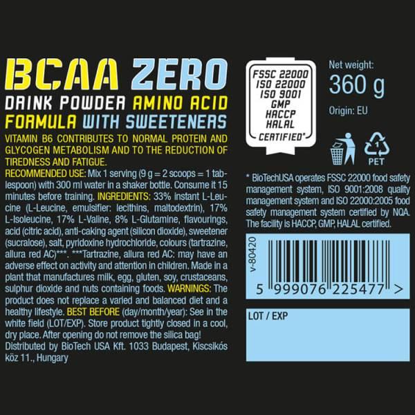 BioTech USA BCAA Zero Aminosäure Tropical Fruit 360 g Dose