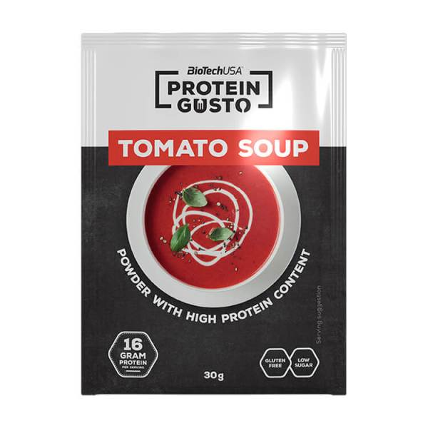BioTechUSA Protein Gusto Tomato Soup proteinreiche Tomatensuppe 10 x 30 g Packung. 16 g Eiweiß / 30 G Protein Suppe. BioTechUSA Protein Gusto Tomato Soup!