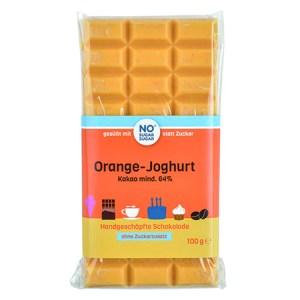 Handgeschöpfte Schokolade zuckerfrei Orange Joghurt No Sugar Sugar kaufen. zuckerfreie Schokolade kaufen. Schokolade ohne Zucker kaufen.