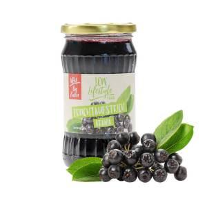 LCW Gourmet Fruchtaufstrich Aronia. Fantastisch süß & fruchtig, ohne Zuckerzusatz, kalorienarm, hoher Fruchtgehalt: 136 g Aronia Früchte in einem Glas 340 g
