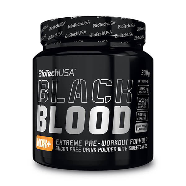 BioTech USA Black Bood NOX+ Pre Workout Booster 330 g Dose. BioTech USA Pre Workout Booster Black Blood NOX+ kaufen. Für dein massives Training! Pre Workout Booster kaufen