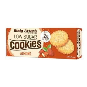 Body Attack Low Sugar Cookies Kekse Almond - Mandel 110 g Packung kaufen. Body Attack Low Sugar Cookies Kekse Mandel, zuckerarm, 12g Protein,...