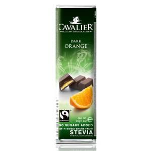 Cavalier Stevia Schokoriegel Zartbitter Orange 40 g online kaufen. Zuckerfreie Schokolade, Cavalier Stevia Schokoriegel Zartbitter Orange 40 g kaufen!